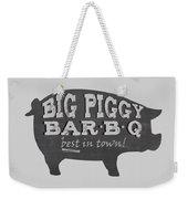 Big Piggy Bar B Q  Weekender Tote Bag