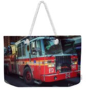 Big Red Engine 24 - Fdny - Firefighters Of New York Weekender Tote Bag