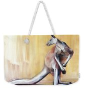 Big Red  Kangaroo Weekender Tote Bag