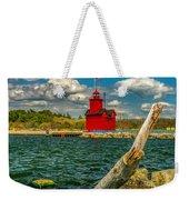 Big Red Lighthouse In Michigan Weekender Tote Bag