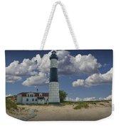 Big Sable Lighthouse Under Cloudy Blue Skies Weekender Tote Bag