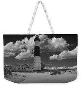 Big Sable Lighthouse Under Cloudy Skies Weekender Tote Bag