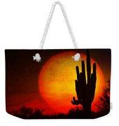 Big Saguaro Sunset Weekender Tote Bag