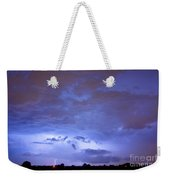 Big Sky With Small Lightning Strikes In The Distance Weekender Tote Bag by James BO  Insogna