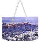 Big Snow In The Alhambra Granada  Weekender Tote Bag