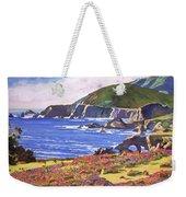 Big Sur Wildflowers - Plein Air Weekender Tote Bag