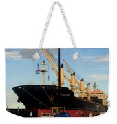 Big Tanker In The Harbor Weekender Tote Bag