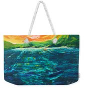 Big Tropical Wave Weekender Tote Bag