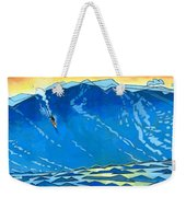 Big Wave Weekender Tote Bag by Douglas Simonson