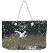 Big White Bird Flying Away Weekender Tote Bag