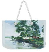 Big Wolf Lake Weekender Tote Bag