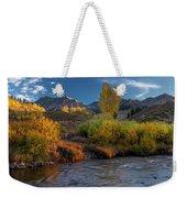 Big Wood River Color Weekender Tote Bag