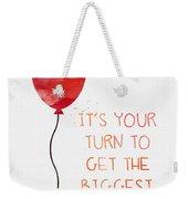 Biggest Balloon- Card Weekender Tote Bag