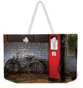 Bike - Two Bikes And A Gas Pump Weekender Tote Bag