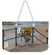 Bike Against Railings Weekender Tote Bag