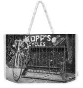 Bike At Kopp's Cycles Shop In Princeton Weekender Tote Bag