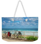 Bike Break At The Beach Weekender Tote Bag