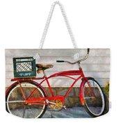 Bike - Delivery Bike Weekender Tote Bag by Mike Savad
