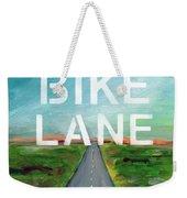 Bike Lane- Art By Linda Woods Weekender Tote Bag