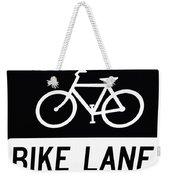 Bike Lane Weekender Tote Bag