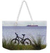 Bike On The Bay Weekender Tote Bag