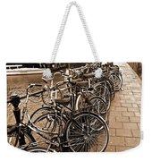 Bike Parking -- Amsterdam In November Sepia Weekender Tote Bag