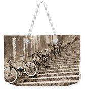 Bike Stairs Zurich Weekender Tote Bag