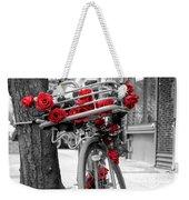 Bike With Red Roses Weekender Tote Bag