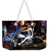 Biker Lady Weekender Tote Bag