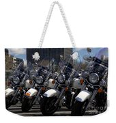 Bikes In Blue Weekender Tote Bag