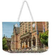 Bikes In Front Of Dutch University Weekender Tote Bag