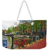 Bikes On The Bridge Weekender Tote Bag