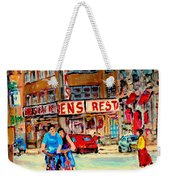 Biking  Past Ben Weekender Tote Bag