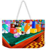 Billiard Table Weekender Tote Bag