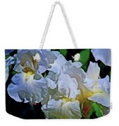 Billowing White Irises Weekender Tote Bag