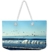 Billowing White Waves And Seagulls Weekender Tote Bag