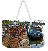 Billys Nets And Sinking Work Boat Weekender Tote Bag