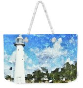 Biloxi Lighthouse Weekender Tote Bag