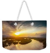 Bira River At Sunset. Weekender Tote Bag