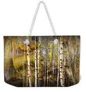 Birch Bark And Trees Abstract Weekender Tote Bag