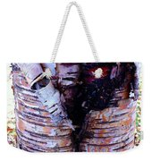 Birch Bark Closeup Weekender Tote Bag