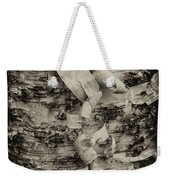 Birch Bark Detail Monotone Img_6361 Weekender Tote Bag