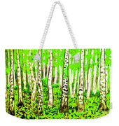 Birch Forest, Painting Weekender Tote Bag