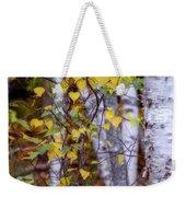 Birch In Autumn Weekender Tote Bag