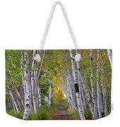 Birch Path Weekender Tote Bag