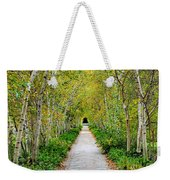 Birch Pathway Perspective Weekender Tote Bag