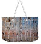 Birch Trees - Clouds Weekender Tote Bag