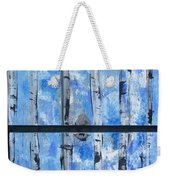 Birch Trees - Blue Weekender Tote Bag