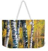 Birch Trees In Golden Fall Weekender Tote Bag