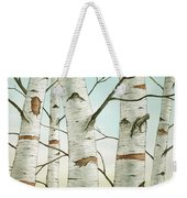 Birch Trees In Late Autumn Weekender Tote Bag